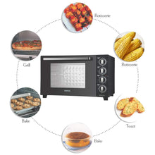 Load image into Gallery viewer, BOROSIL PRIMA 60 L OTG, WITH MOTORISED ROTISSERIE AND CONVECTION, 2000W, 12 STAGE HEAT SELECTION, BLACK - Gogia bartan store