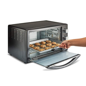 BOROSIL PRO 42 LITRE OTG, WITH MOTORISED ROTISSERIE AND CONVECTION, 2000 W, BLACK