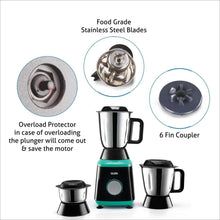 Load image into Gallery viewer, GLEN MIXER GRINDER 4030 WITH 3 STAINLESS STEEL JARS, 750 W, BLACK - Gogia bartan store
