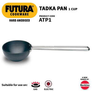 HAWKINS FUTURA HARD ANODIZED TADKA HEATING TADKA PAN 1 CUP (HARD ANODISED) - Gogia bartan store