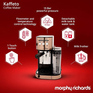 MORPHY RICHARDS KAFFETO 1350 WATTS MILK FROTHER AND COFFEE MAKER