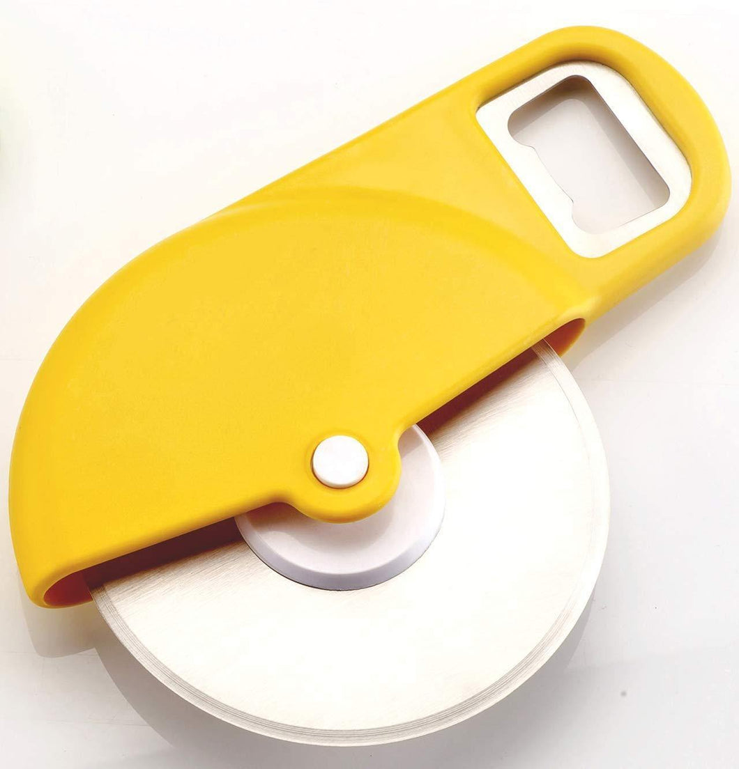 PIZZA CUTTER WITH OPENER, 2 IN 1