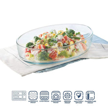 Load image into Gallery viewer, BOROSIL OVAL BAKING DISH, 700ML, TRANSPARENT - Gogia bartan store