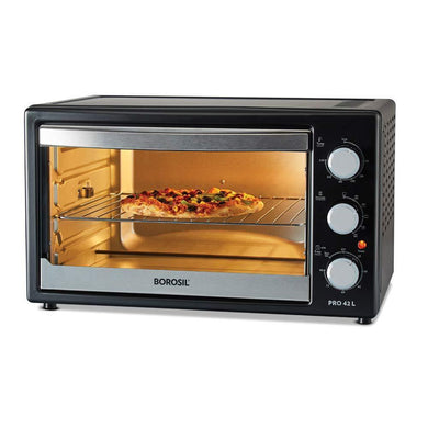 BOROSIL PRO 42 LITRE OTG, WITH MOTORISED ROTISSERIE AND CONVECTION, 2000 W, BLACK - Gogia bartan store