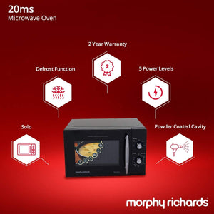 MORPHY RICHARDS 20 LITRE SOLO MICORWAVE OVEN, BLACK - Gogia bartan store