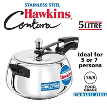Load image into Gallery viewer, HAWKINS STAINLESS STEEL CONTURA PRESSURE COOKER , SSC