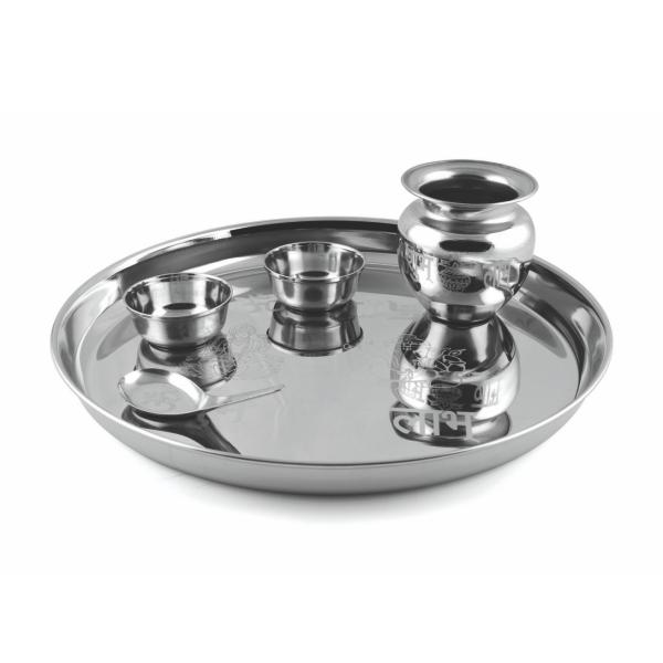 PNB KITCHENMATE STAINLESS STEEL POOJA SET - Gogia bartan store