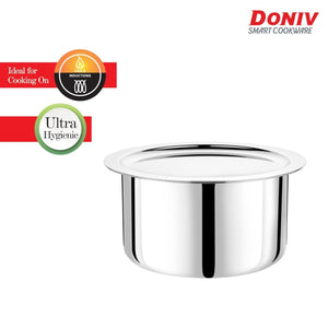 DONIV Titanium Triply Stainless Steel Tope with Cover, Induction Friendly - Gogia bartan store