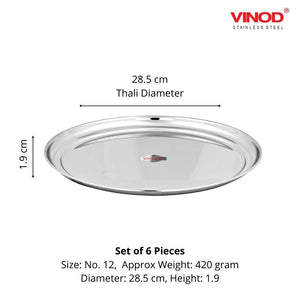 VINOD STAINLESS STEEL TIVOLI KADAI WITH LID- 24 CM, 3 LTR (INDUCTION FRIENDLY) - Gogia bartan store