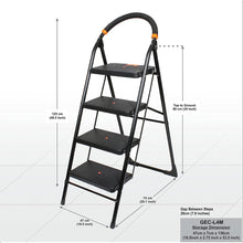 Load image into Gallery viewer, CIPLA PLAST MILANO 4 STEP LADDER, BLACK