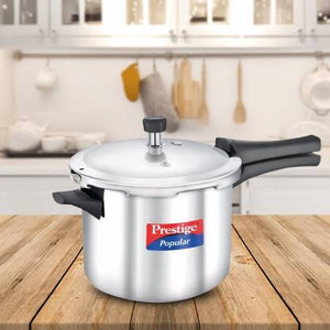 PRESTIGE SS POPULAR 5 L INDUCTION BOTTOM PRESSURE COOKER  (STAINLESS STEEL) - Gogia bartan store