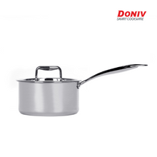 Load image into Gallery viewer, DONIV Titanium Triply Stainless Steel Sauce Pan, Induction Friendly