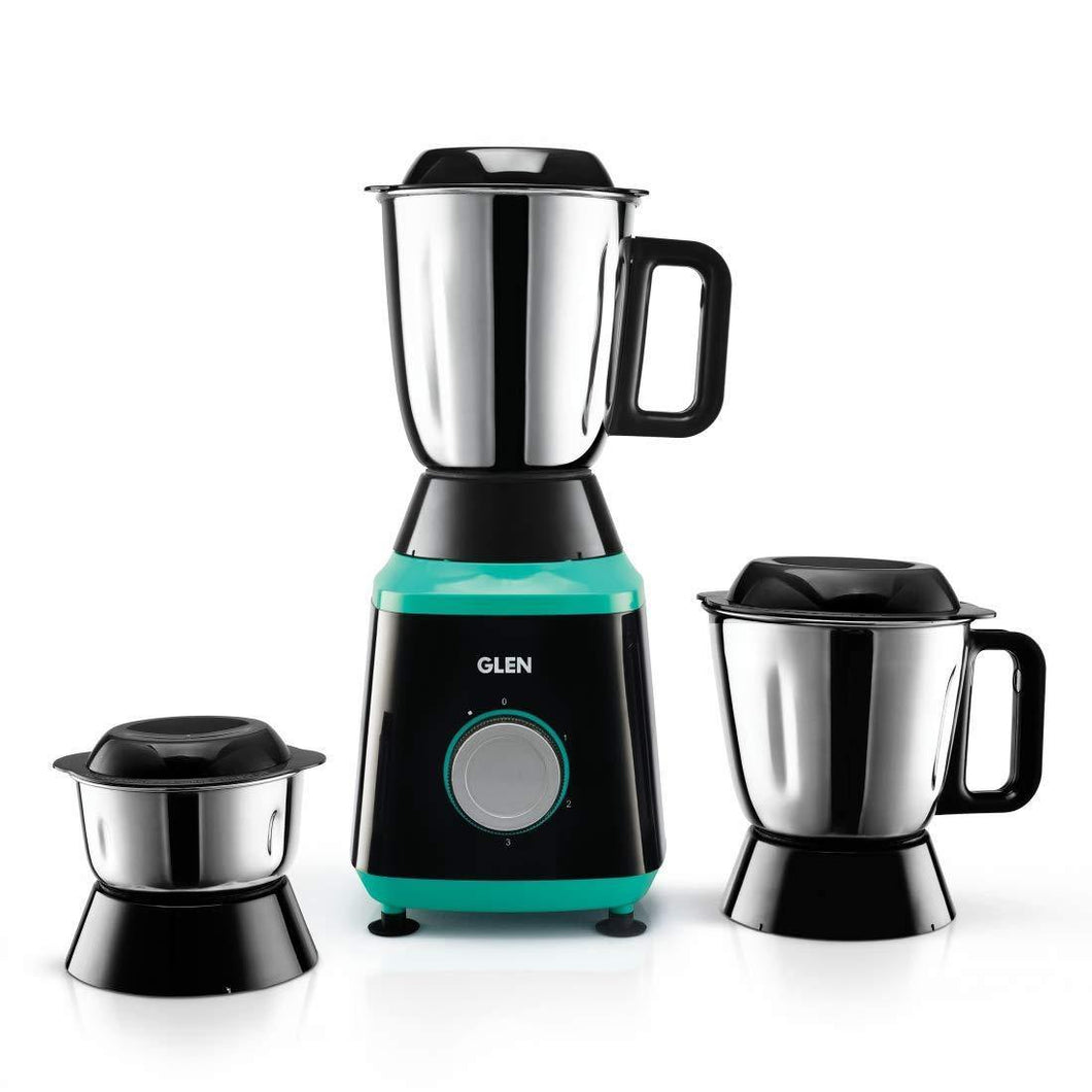 GLEN MIXER GRINDER 4030 WITH 3 STAINLESS STEEL JARS, 750 W, BLACK - Gogia bartan store