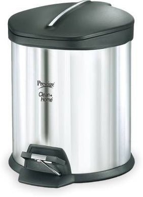 PRESTIGE CLEAN HOME FLIPBIN 12 ℓ WITH PLASTIC LID. STAINLESS STEEL DUSTBIN  - Gogia bartan store