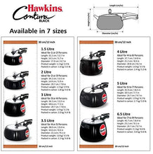 Load image into Gallery viewer, HAWKINS CONTURA BLACK PRESSURE COOKER , HARD ANODIZED , CB - Gogia bartan store