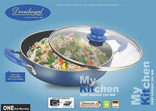 Load image into Gallery viewer, DEVIDAYAL  NON - STICK DEEP KADHAI WITH GLASS LID , 4MM - Gogia bartan store