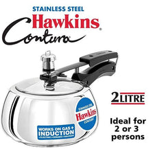 Load image into Gallery viewer, HAWKINS CONTURA STAINLESS STEEL PRESSURE COOKER , SSC - Gogia bartan store