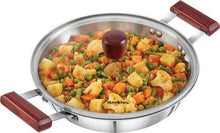 Load image into Gallery viewer, HAWKINS TRIPLY STAINLESS STEEL DEEP FRY PAN 2.5 LTR WITH LID FRY PAN 26 CM DIAMETER WITH LID  (STAINLESS STEEL, INDUCTION BOTTOM) ( KADHAI ) - Gogia bartan store
