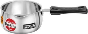 HAWKINS T-PAN STAINLESS STEEL WITHOUT LID POT 1 L  (STAINLESS STEEL, INDUCTION BOTTOM) - Gogia bartan store