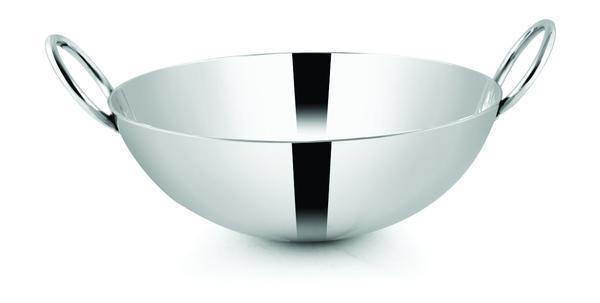 PNB Kitchenmate ROUND STAINLESS STEEL KARAHI, 3MM