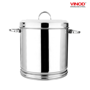 Vinod Stainless Steel Heavy Gauge Ration Dabba with Lid & Side Handle