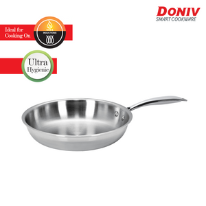 DONIV Titanium Triply Stainless Steel Fry Pan, Induction Friendly