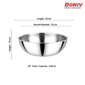 DONIV Titanium Triply Stainless Steel Tasla, Induction Friendly
