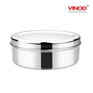 Vinod Stainless Steel Puri Dabba, Storage Containers - Pack of 4 (Capacity: 350 ml, 450 ml, 650 ml, 1000 ml)