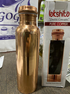 LAKSHITA COPPER BOTTLE PLAIN 1000ML - Gogia bartan store
