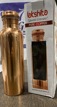 Load image into Gallery viewer, LAKSHITA COPPER BOTTLE PLAIN 1000ML - Gogia bartan store