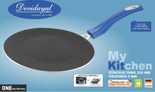 Load image into Gallery viewer, DEVIDAYAL - CONCAVE TAWA - NON STICK COOKWARE WITH INDUCTION BASE 280mm ( roti tawa ) - Gogia bartan store