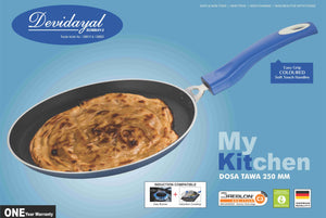 DEVIDAYAL NON STICK 4 MM DOSA TAWA 250MM ( induction tawa) - Gogia bartan store