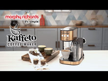 Load and play video in Gallery viewer, MORPHY RICHARDS KAFFETO 1350 WATTS MILK FROTHER AND COFFEE MAKER