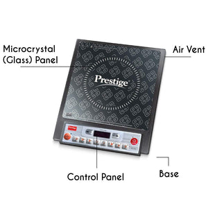 PRESTIGE PIC 14.0 1900-WATT INDUCTION COOKTOP WITH PUSH BUTTON (BLACK) - Gogia bartan store