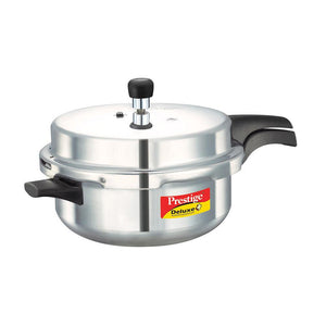 PRESTIGE STAINLESS STEEL DELUXE SENIOR PRESSURE PAN 5 LITRE - Gogia bartan store