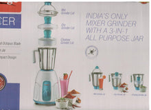 Load image into Gallery viewer, PRESTIGE RACER 550-WATT MIXER GRINDER - RACER WITH 1 JAR AND 3 LIDS - Gogia bartan store