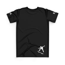 Load image into Gallery viewer, SKATEBOARD JERSEY TOP - BLACK