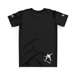 SKATEBOARD JERSEY TOP - BLACK