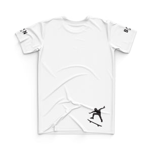 SKATEBOARD JERSEY TOP - WHITE