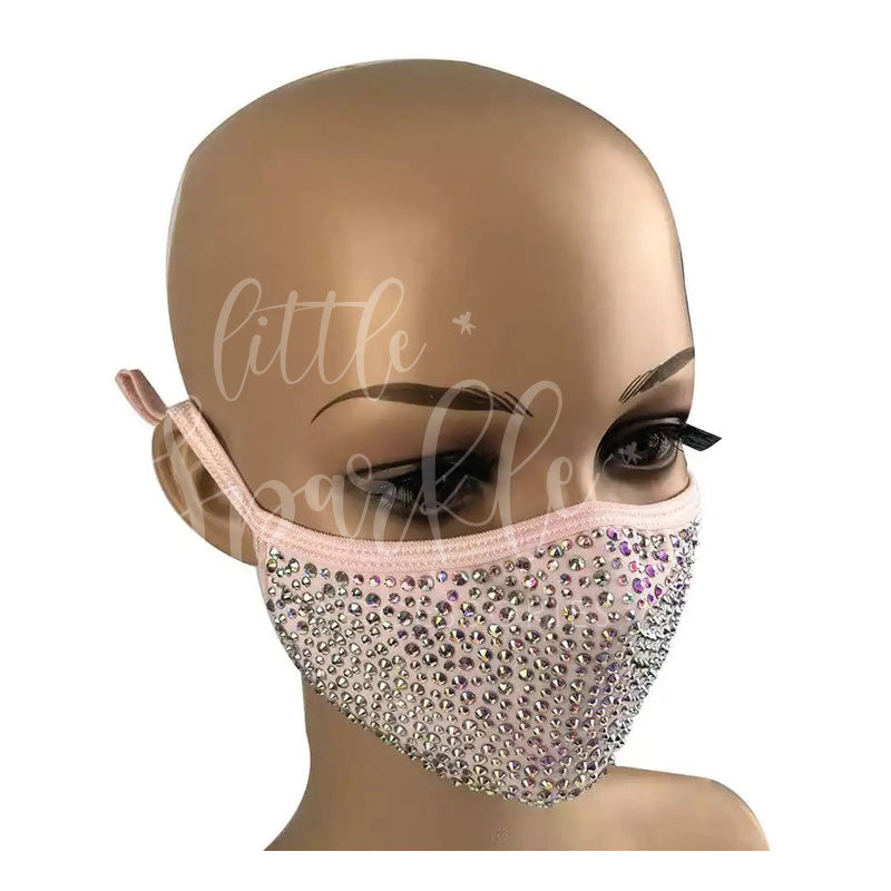 Sparkle Face Mask: Baby Pink