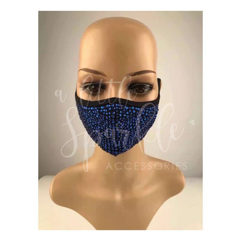Sparkle Face Mask: Electric Blue