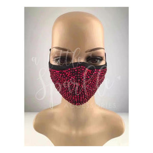 Sparkle Face Mask: Red