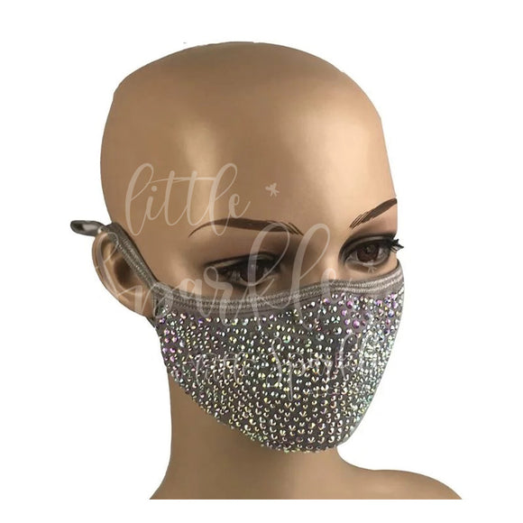 Sparkle Face Mask: Grey