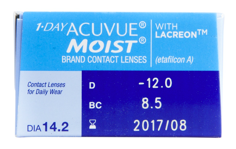 1 Day Acuvue Moist Contact Lenses 30-Pack - Lensbox™