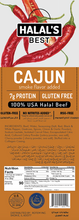 Load image into Gallery viewer, Halal's Best Cajun Beef Stick box view with ingredients
