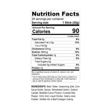 Load image into Gallery viewer, Halal's Best Crushed Red Pepper Beef Stick nutrition facts