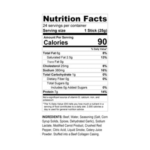Halal's Best Crushed Red Pepper Beef Stick nutrition facts
