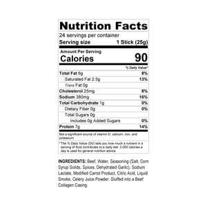 Halal's Best Orginal Beef Stick nutrition facts
