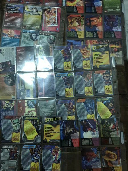 Collection of Trading Cards X-Men, SpiderMan, Pokemon 425 + Pieces!!