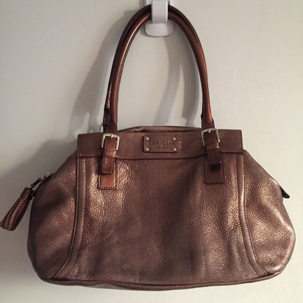KATE SPADE Bronze Leather Tote Bag